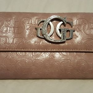 GUESS Rose Pink Wallet With G Logo
